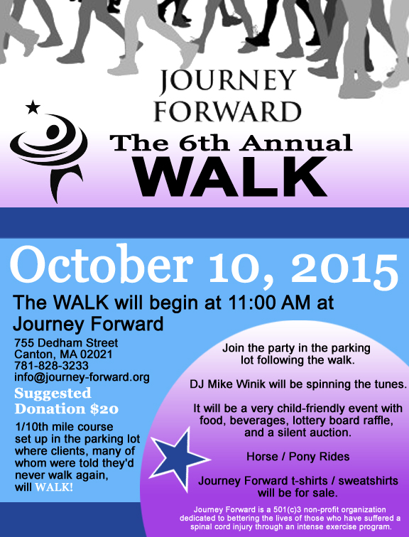 Journey Forward 2015 Walk Flyer